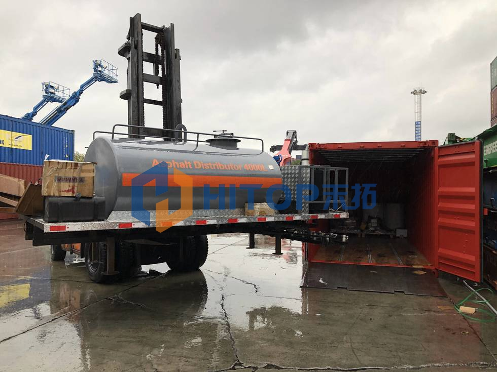 Asphalt distributor 4000L and spare parts exported on 27th of November